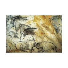 Chauvet Lascaux Cave Painting Horses and animals Canvas Print