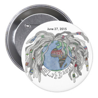 CHAVAL 2015 grande, botón redondo de 3 pulgadas