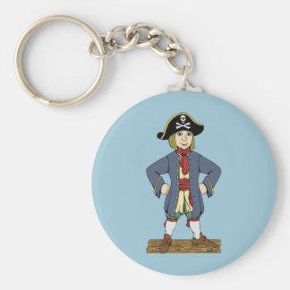 Chaval lindo del pirata llavero redondo tipo pin