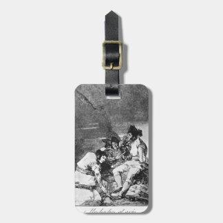 Chavales de Francisco Goya- que consiguen encendid Etiqueta Para Maleta