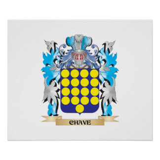 Chave Coat of Arms - Family Crest Print
