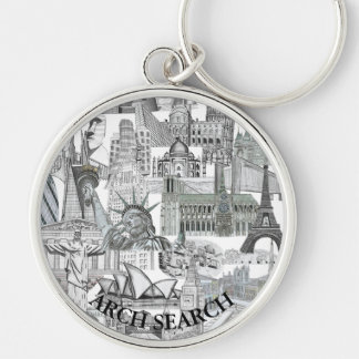 Chaveiro 5,4cm Mural Arch Search Keychain