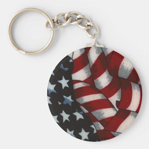 """Chaveiro """"Bandeira dos Estados Unidos"""" Llavero Redondo Tipo Pin"""