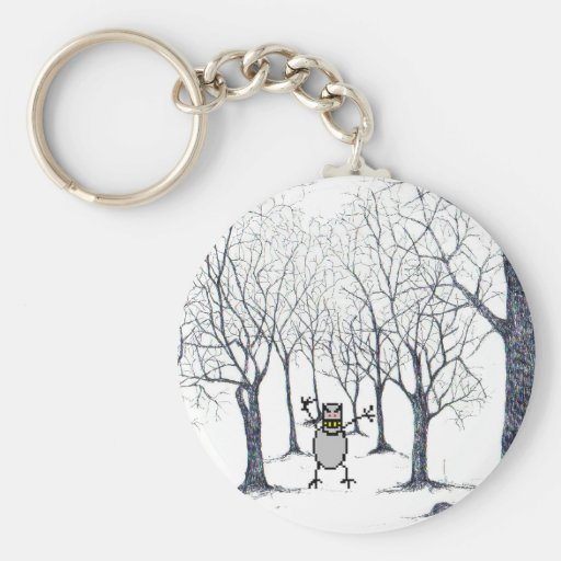Chaveiro bixo in the haunted forest basic round button keychain