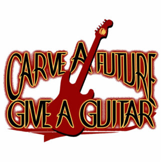 """Chaveiro """"Carve the Future Give the Guitar """" Statuette"""