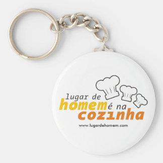 Chaveiro Lugar de Homem is in the Kitchen Basic Round Button Keychain