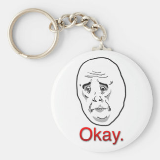 Chaveiro Okay Basic Round Button Keychain