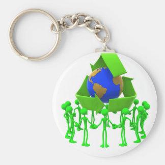 Chaveiro recycling keychain