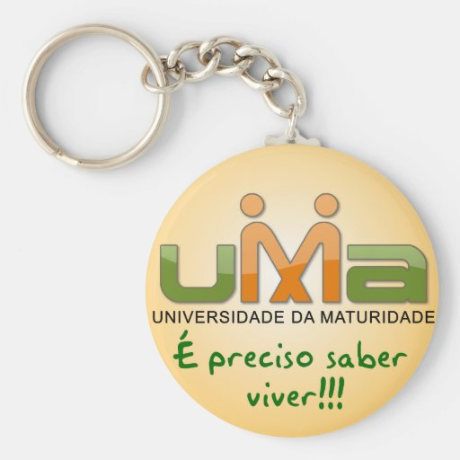 Chaveiro UMA Is necessary knowledge to live Yellow Key Chains