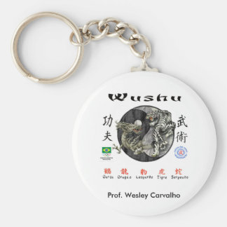 Chaveiro Wushu Basic Round Button Keychain