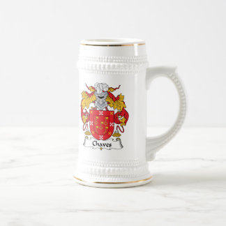 Chaves Family Crest Beer Stein