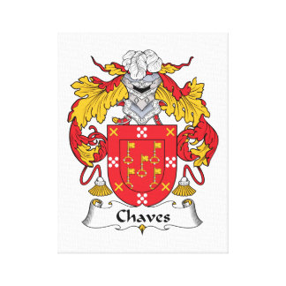 Chaves Family Crest Canvas Print