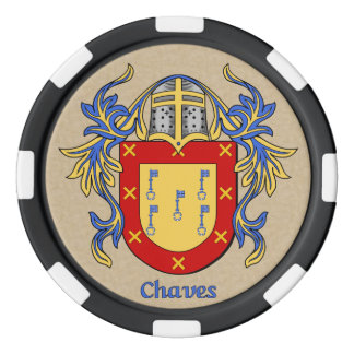 Chaves Heraldic Arms Set Of Poker Chips