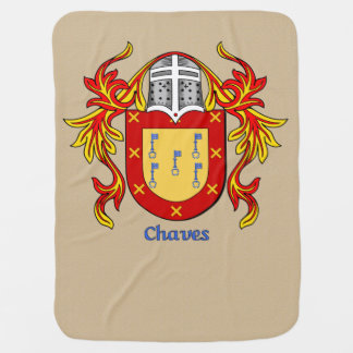 Chaves Heraldic Shield and Mantling Receiving Blanket