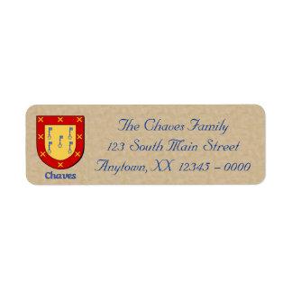 Chaves Heraldic Shield Label