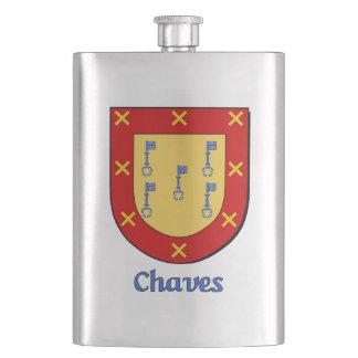 Chaves Heraldic Shield Hip Flask