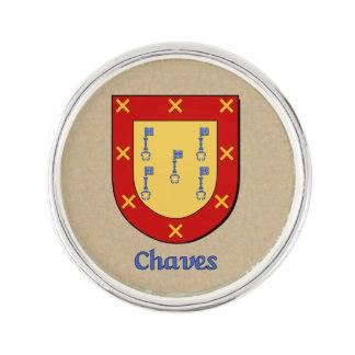 Chaves Historical Shield Lapel Pin