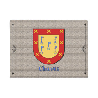 Chaves Historical Shield on Cobblestone Doormat