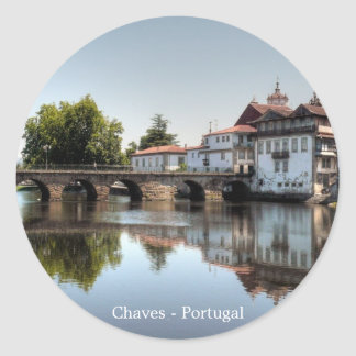 Chaves, Portugal Classic Round Sticker