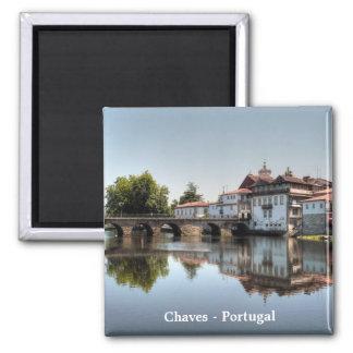 Chaves - Portugal Imán Cuadrado