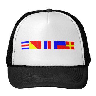 chaveta náutica de las banderas gorras