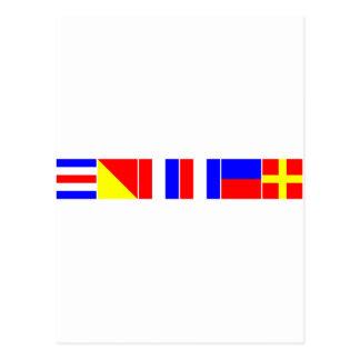 chaveta náutica de las banderas tarjeta postal