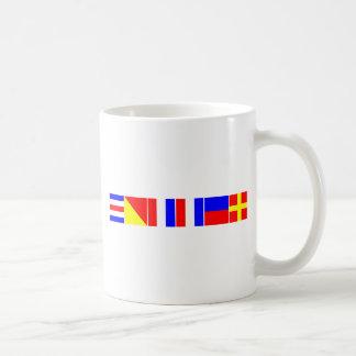 chaveta náutica de las banderas taza clásica