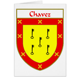 Chavez Coat of Arms/Family Crest Card