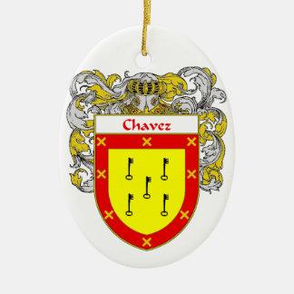 Chavez Coat of Arms/Family Crest Ceramic Ornament