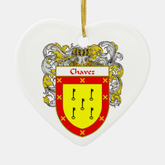 Chavez Coat of Arms/Family Crest Ceramic Ornament