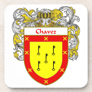 Chavez Coat of Arms/Family Crest Drink Coaster