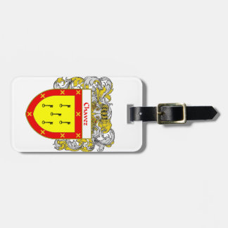Chavez Coat of Arms/Family Crest Luggage Tag