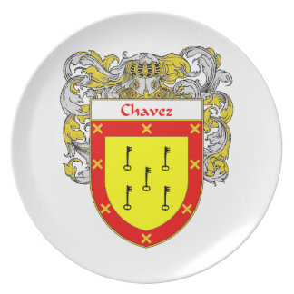 Chavez Coat of Arms/Family Crest Melamine Plate
