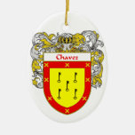 Chavez Coat of Arms/Family Crest Ornaments
