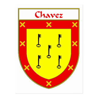 Chavez Coat of Arms/Family Crest Postcard