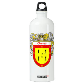 Chavez Coat of Arms/Family Crest Water Bottle