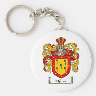 CHAVEZ FAMILY CREST -  CHAVEZ COAT OF ARMS KEYCHAIN