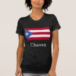 Chavez Puerto Rican Flag Blk Shirts
