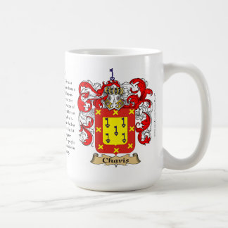 Chavis, the Origin, the Meaning and the Crest Coffee Mug