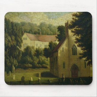 Chawton House and Church, 1809 Mouse Pad