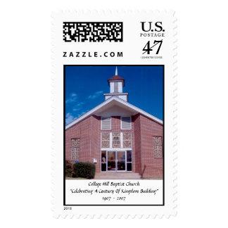 CHC Photo, College Hill Baptist Church Postage Stamp