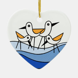 CHC Sand Pipers Heart Ornament