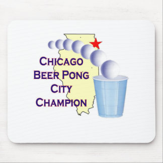 Chciago Beer Pong Champion Mousepads