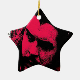 che adorno navideño de cerámica en forma de estrella