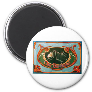 Che, bandoneon 2 inch round magnet