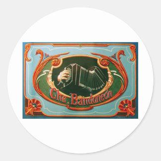 Che, bandoneon classic round sticker