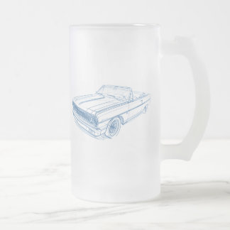 Che Chevelle 1964 Convertible Frosted Glass Beer Mug