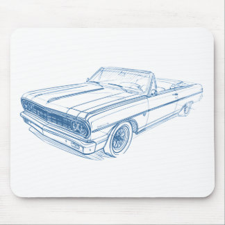 Che Chevelle 1964 Convertible Mouse Pad