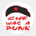 Che era un punk pegatina redonda