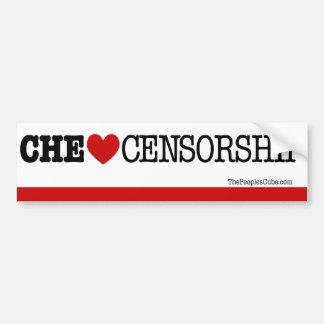 Che Guevara - Che Heart Censorship: Bumpersticker Car Bumper Sticker